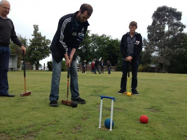 Turns out croquet is harder than it looks ... Brian M