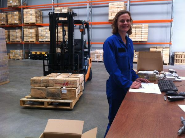 Rebecca in our new Auckland warehouse